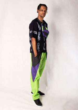 Neon Green Windbreaker Track Pants 6