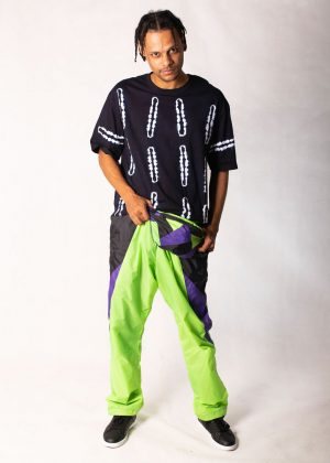 Neon Green Windbreaker Track Pants1