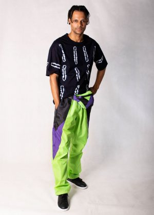 Neon Green Windbreaker Track Pants 2