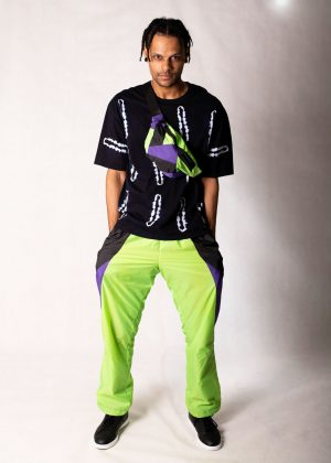 Neon Green Windbreaker Track Pants 3
