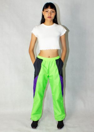 Neon Green Windbreaker Track Pants 4