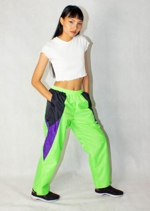 Neon Green Windbreaker Track Pants 5